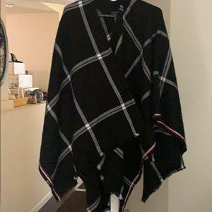 Blanket Poncho Shawl Cape Wrap.
